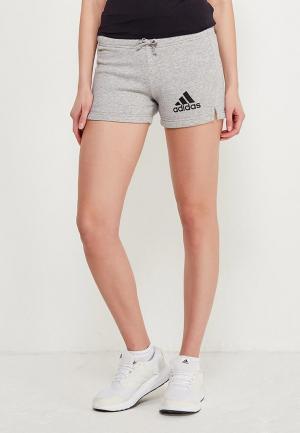 Шорты adidas. Цвет: серый