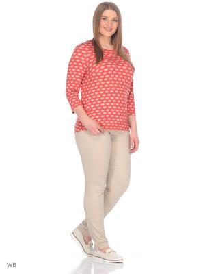 Блузка BARTELLI. Цвет: рыжий, белый