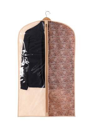 Чехол для одежды малый 60х100см Русский Шик 1201 COFRET. Цвет: бежевый, коричневый