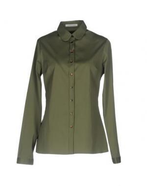Pубашка WALTER VOULAZ. Цвет: зеленый-милитари