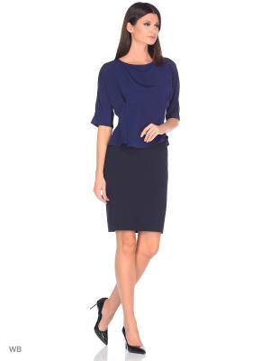 Блузка FLEURETTA. Цвет: темно-синий