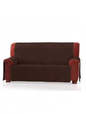 Накидка на широкий трехместный диван Иден Медежда. Цвет: коричневый
