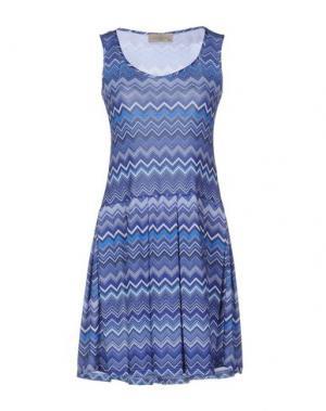 Короткое платье JUST FOR YOU. Цвет: синий