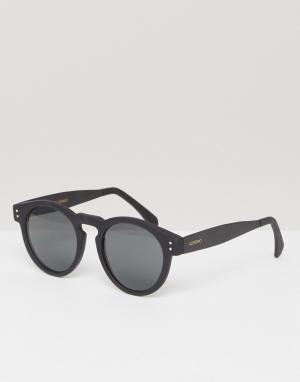 Komono Круглые солнцезащитные очки Clement Metal Series. Цвет: черный