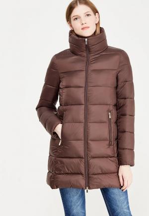 Пальто oodji. Цвет: коричневый