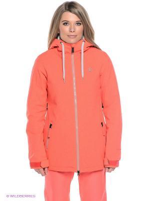 Куртка Volcom. Цвет: коралловый
