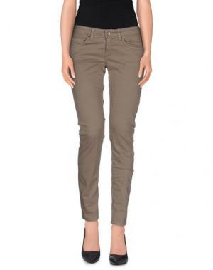 Повседневные брюки UP ★ JEANS. Цвет: серый