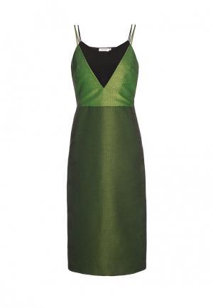 Платье Soeasy. Цвет: зеленый