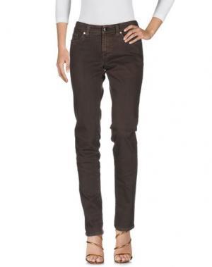 Джинсовые брюки S.O.S by ORZA STUDIO. Цвет: какао