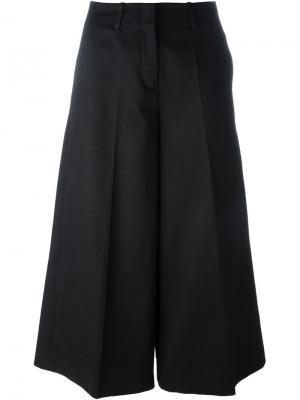 Укороченные брюки палаццо Alberto Biani. Цвет: чёрный