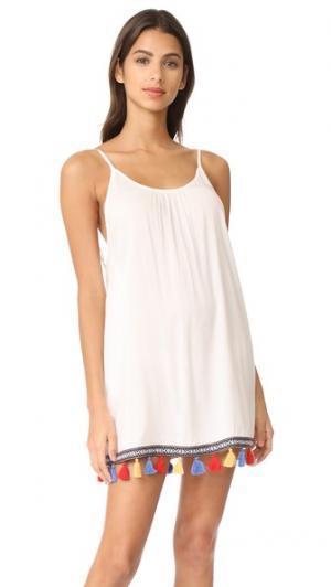 Короткое платье Boho Love Bindya. Цвет: белый