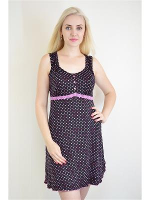 Ночная сорочка Miata. Цвет: черный, фиолетовый