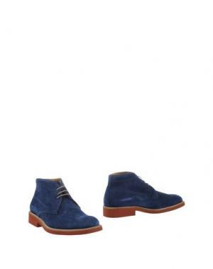 Полусапоги и высокие ботинки SIMONE MARIOTTI. Цвет: синий