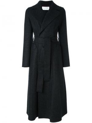 Пальто средней длины с поясом Harris Wharf London. Цвет: серый