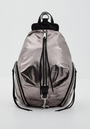 Рюкзак Rebecca Minkoff. Цвет: серебряный