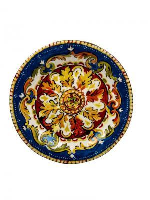 Тарелка обеденная Сказка, d.27 см. Elff Ceramics. Цвет: синий, зеленый, красный