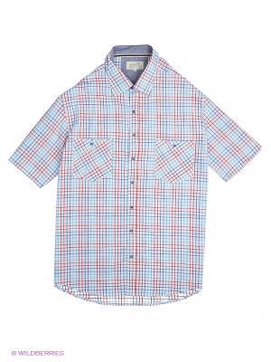 Рубашка Westrenger. Цвет: голубой, красный