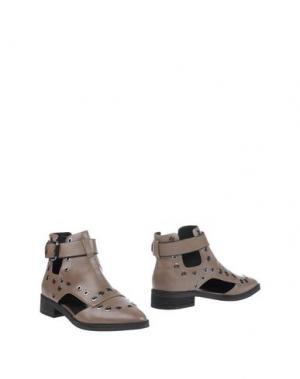Полусапоги и высокие ботинки EEIGHT. Цвет: голубиный серый