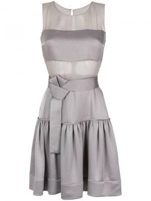 Sheer panels short dress Gloria Coelho. Цвет: серый