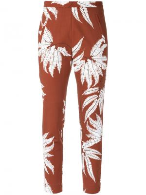 Printed straight trousers Andrea Marques. Цвет: коричневый