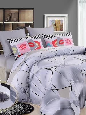Комплект постельного белья, Граффити, 1.5 спальный KAZANOV.A.. Цвет: серый
