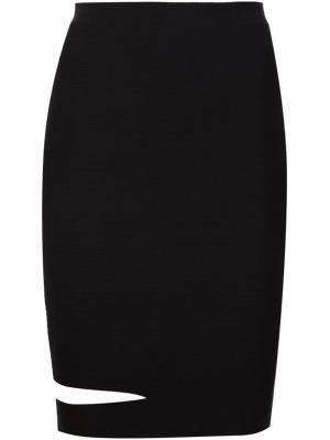 Облегающая юбка с вырезной деталью Alexander Wang. Цвет: чёрный