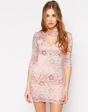 Lasula Кружевное платье. Цвет: белый