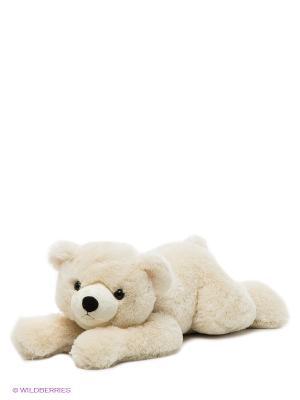 Игрушка Медведь лежачий 70 см Aurora. Цвет: молочный