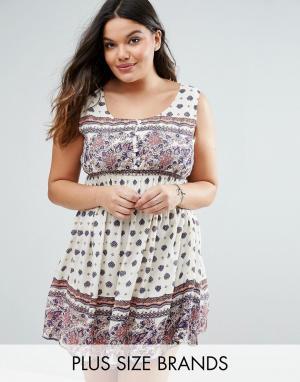 Diya Платье с принтом Plus. Цвет: мульти