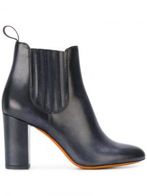 Ботинки Челси на каблуках Santoni. Цвет: синий