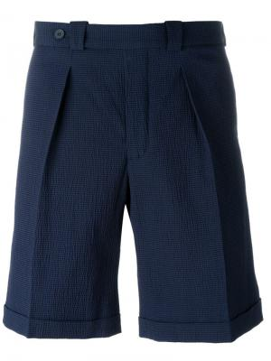 Фактурные шорты Carven. Цвет: синий