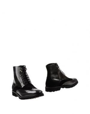 Полусапоги и высокие ботинки SETTANTATRE LR. Цвет: стальной серый