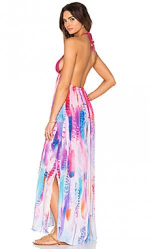 Макси платье Lotta Stensson. Цвет: розовый