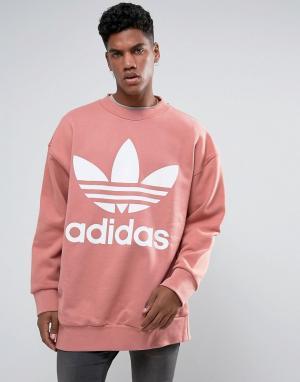 Adidas Originals Свободный розовый свитшот BQ1975. Цвет: розовый