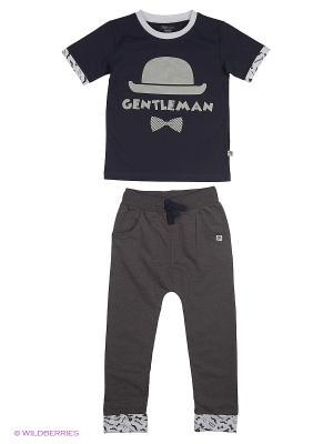 Комплект (футболка, брюки) Free Age. Цвет: черный