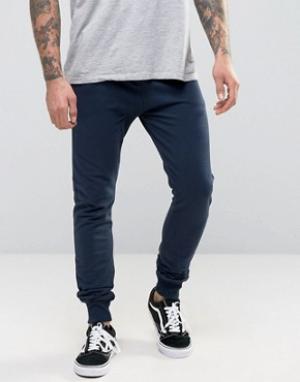 Firetrap Трикотажные штаны. Цвет: темно-синий