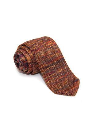 Галстук Churchill accessories. Цвет: темно-коричневый, темно-бордовый, темно-красный, терракотовый, бордовый, коричневый, бронзовый, светло-коричневый, рыжий, светло-оранжевый, красный