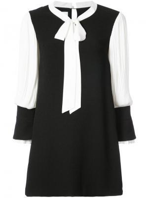 Платье дизайна колор-блок Edward Achour Paris. Цвет: чёрный