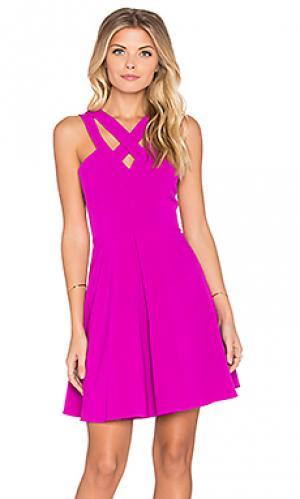 Приталенное и расклешенное платье wild at heart Lumier. Цвет: розовый