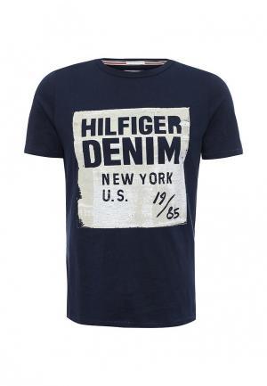 Футболка Tommy Hilfiger Denim. Цвет: синий