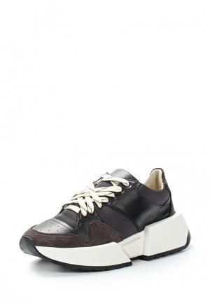 Кроссовки MM6 Maison Margiela. Цвет: черный