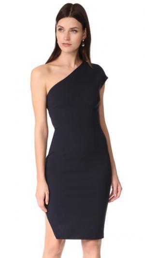 Платье с диагональными вставками findersKEEPERS. Цвет: темно-синий
