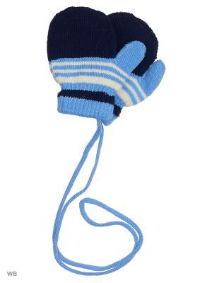 Варежки Mini. Цвет: голубой, черный