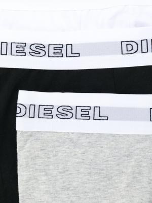 Три пары боксеров с логотипом Diesel. Цвет: чёрный