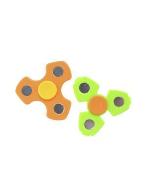 Комплект (Спиннер - 2 шт.) Happy Charms Family. Цвет: зеленый, желтый, оранжевый