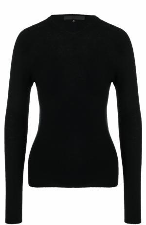 Шерстяной пуловер с V-образным вырезом Tegin. Цвет: черный