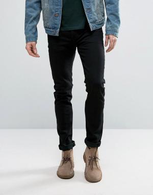 Levis Черные джинсы скинни 510 Nightshine. Цвет: черный