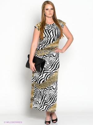 Платье МадаМ Т. Цвет: черный, белый, бежевый