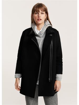 Пальто Violeta by Mango. Цвет: черный