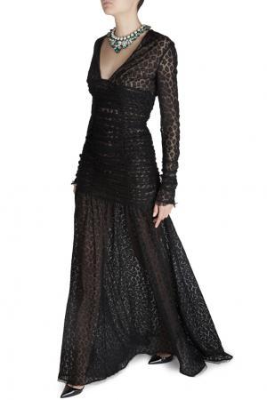 Кружевное платье Alessandra Rich. Цвет: черный